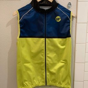 Hyper reflective exercise zip vest   cycling